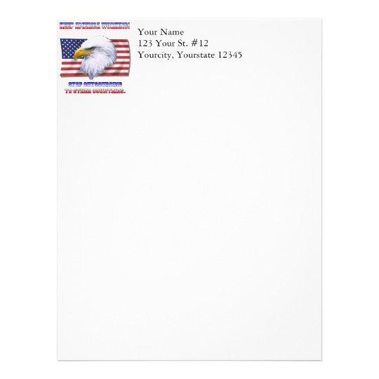 Keep America Working Letterhead
