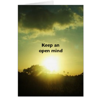 Keep An Open Mind Greeting Cards