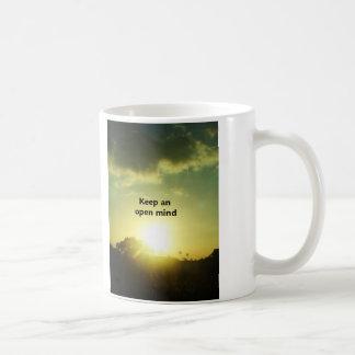 Keep An Open Mind Classic White Coffee Mug