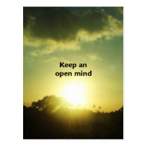 Keep An Open Mind Postcard