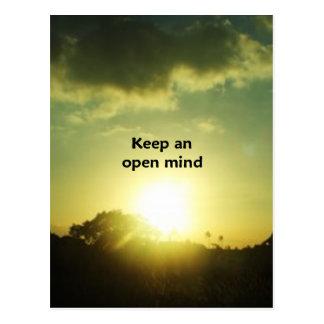 Keep An Open Mind Post Card