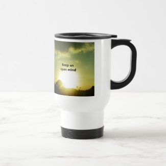 Keep An Open Mind Travel Mug