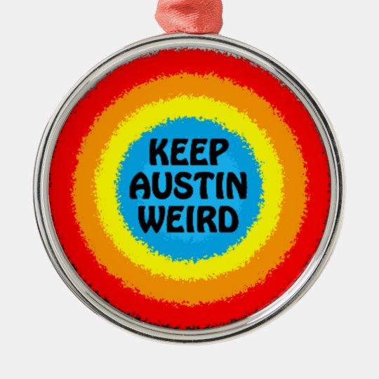 Wierd Christmas Ornament.Keep Austin Texas Weird Christmas Tree Ornament