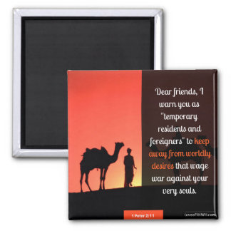 Keep away from worldly desires magnet