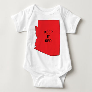 Keep AZ Red Baby Bodysuit