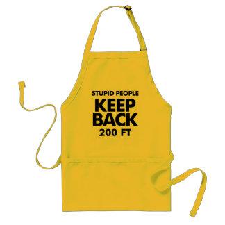 Keep Back apron, with attitude Adult Apron