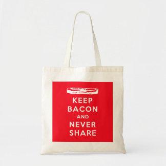 Keep Bacon and Never Share Budget Tote Bag