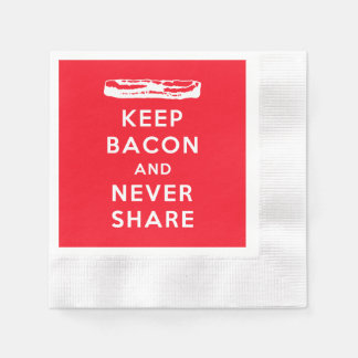 Keep Bacon and Never Share Paper Napkin