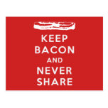 Keep Bacon And Never Share Post Cards