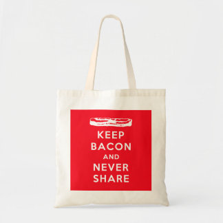 Keep Bacon and Never Share Tote Bag