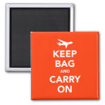 Keep Bag and Carry On Refrigerator Magnet