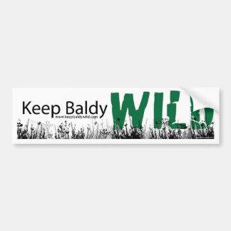 Keep Baldy Wild Bumper Sticker Car Bumper Sticker