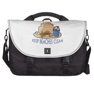 KEEP BEACHES CLEAN LAPTOP COMMUTER BAG