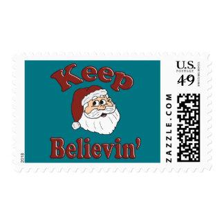 Keep Believin Santa Postage