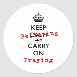 KEEP BELIEVING CLASSIC ROUND STICKER