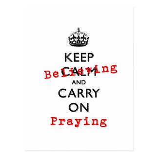 KEEP BELIEVING POSTCARD