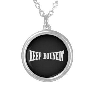 Keep Bouncin' Round Pendant Necklace