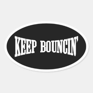 Keep Bouncin' Oval Stickers