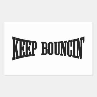 Keep Bouncin' Rectangular Sticker