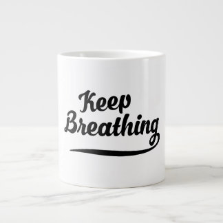 Keep Breathing Large Coffee Mug