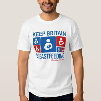 Keep Britain Breastfeeding T-shirts
