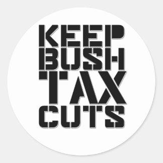 Keep Bush Tax Cuts Classic Round Sticker