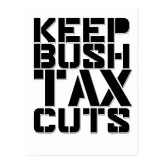 Keep Bush Tax Cuts Postcard