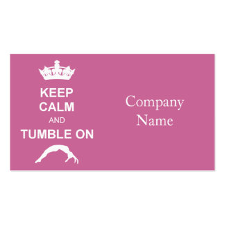 Keep cale and Tumble Double-Sided Standard Business Cards (Pack Of 100)