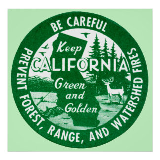 Keep California Green and Golden Poster