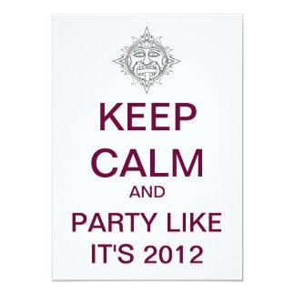 KEEP CALM 2012 Custom Party Invitation