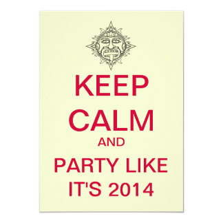 KEEP CALM 2014 Custom New Years Party Invitation