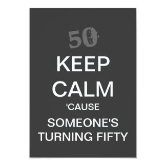 KEEP CALM 50th Birthday Party Invitation (Dark)