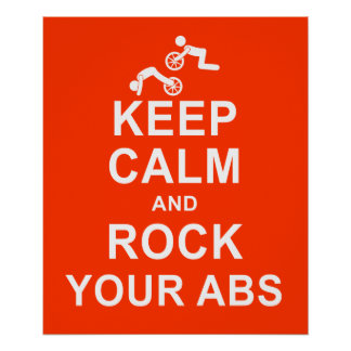 Keep Calm ab Roller Exercise Fitness Poster