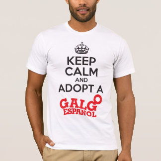 Keep Calm Adopt a Galgo T-Shirt