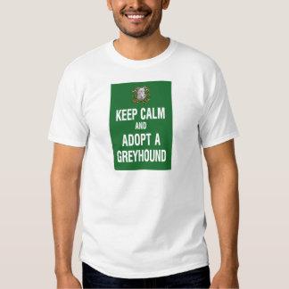 Keep Calm & Adopt a Greyhound Shirts