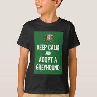 Keep Calm & Adopt a Greyhound T-Shirt