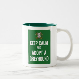 Keep Calm & Adopt a Greyhound Two-Tone Coffee Mug
