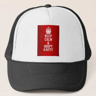 Keep Calm & Adopt a Kitty Trucker Hat