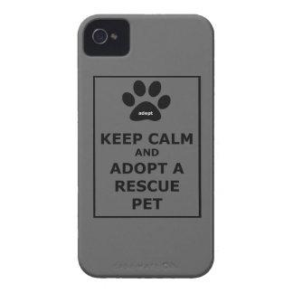 Keep Calm & Adopt a Rescue Pet iPhone 4 Cover