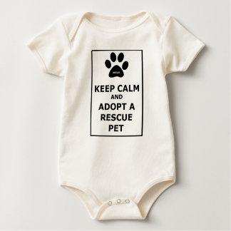Keep Calm & Adopt a Rescue Pet Baby Bodysuit