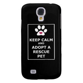 Keep Calm & Adopt a Rescue Pet - WHT Galaxy S4 Case