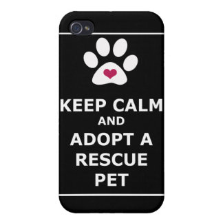 Keep Calm & Adopt a Rescue Pet - WHT Covers For iPhone 4