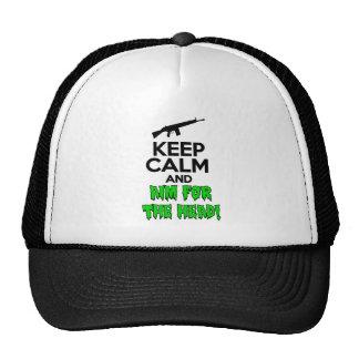 Keep Calm & Aim For The Head Trucker Hat