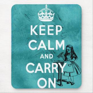 Keep Calm Alice Mouse Pad