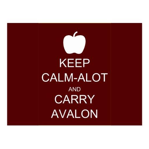 Keep Calm-Alot and Carry Avalon Postcard