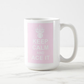 Keep Calm and Ace It Mug in Pink
