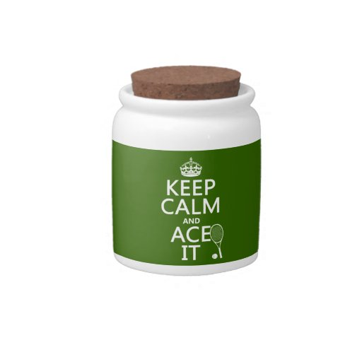 Keep Calm and Ace It (tennis) (in any color) Candy Jar