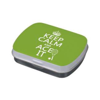 Keep Calm and Ace It (tennis) (in any color) Candy Tin