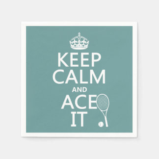 Keep Calm and Ace It (tennis) (in any color) Paper Napkin