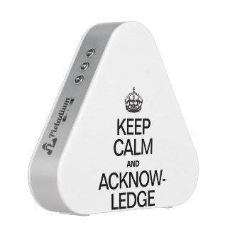 KEEP CALM AND ACKNOWLEDGE BLUETOOTH SPEAKER